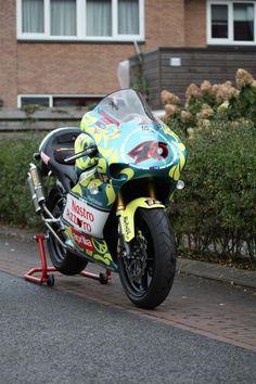 Aprilia RS250 Replica made from Rossi's Mugello 1999 circuit bike