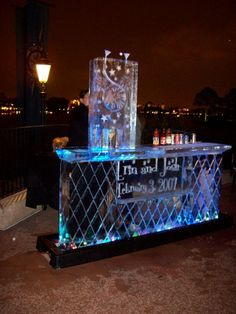 ice bar - imagine w/ tapjoy logo and ice luge