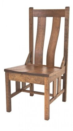 Gish's Amish Legacies Settler's Mission Side Chair.  Sturdy construction & terrific steam bent lumbar support.