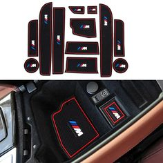12Pcs/Set Gate Slot Pad Interior Door Groove Mat Latex Anti-Slip Cushion For LHD BMW F10 5 Series 2014 2015 2016 Covers