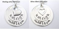 Personalized Mom Necklace  Mothers Day Handstamped 2 by LisaMiwa, $43.00