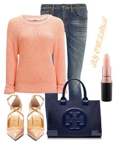 """""""EVE"""" by evelina-er on Polyvore featuring R13, Christian Louboutin, Free People, Tory Burch and MAC Cosmetics"""