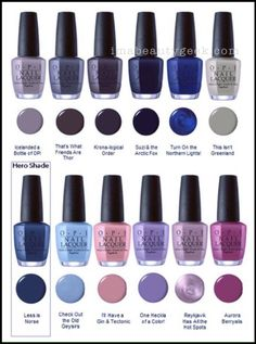 OPI Iceland Collection Fall Winter 2017 http://hubz.info/105/nice-nails-hena-tattoo-and-silver-jewelry