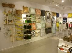"H&M,London,UK, ""Giftware/Cushion Wall"", by TWO VISUAL,UK, pinned by Ton van der Veer"