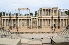 Roman Theater (Teatro Romano) in Merida, Spain
