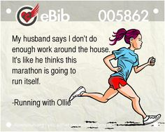 RUNNING WITH OLLIE: Saturday Night Laughs. Marathon Running Humor