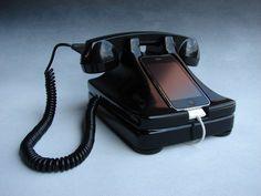Retro iPhone holder.