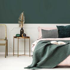 Grand Manan Black in the bedroom – Bedroom Inspırations Emerald Bedroom, Mauve Bedroom, Green Master Bedroom, Rose Bedroom, Master Bedroom Interior, Bedroom Colors, Bedroom Decor, Bedroom Black, Master Bedrooms