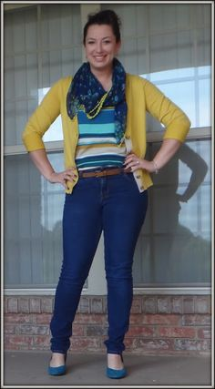 So many things about this I adore... The cardi, the tank, the scarf... skinnies and heels... LOVE!