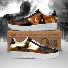 Attack On Titan Air Force Shoes AOT Anime Custom Shoes PT10 Air Force Shoes, Air Force Sneakers, Aot Anime, Custom Air Force 1, Hunter Anime, Custom Shoes, Shoe Collection, Attack On Titan, Snug Fit