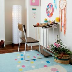 Modern Schoolhouse Desk (White)  | The Land of Nod I Think I want this for me instead