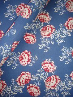 Tecido Adesivo Floral Azul