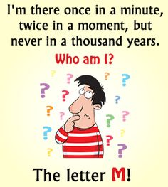 Kids love to test riddles on their family and friends. Here are 101 funny riddles for kids with answers for your kids. These good riddles can be fun while Funny School Answers, Funny Riddles With Answers, Riddles Clever, Jokes And Riddles, Jokes Kids, Brain Riddles, Grammar Jokes, Mind Tricks, Charades