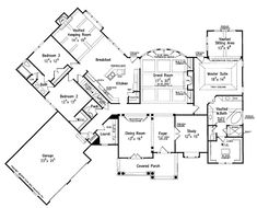 Country Style House Plan - 3 Beds 2.5 Baths 3168 Sq/Ft Plan #927-653 - Dreamhomesource.com