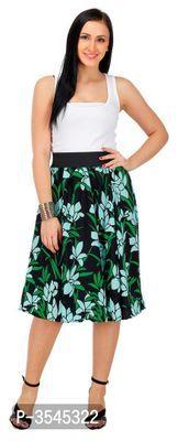 Women Crepe Printed Midi Length Skirt Midi Length Skirts, Midi Skirt, Formal Shirts, Casual Shirts, Ethnic Gown, Western Wear For Women, Fashion Gallery, Jumpsuit Dress, Short Skirts