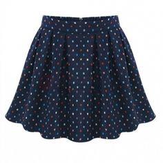 Trendy Little Dots Printed Skirt Dark Navy on buytrends.com