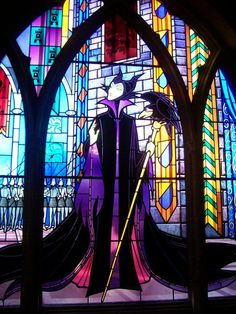 Malificent stained glass.