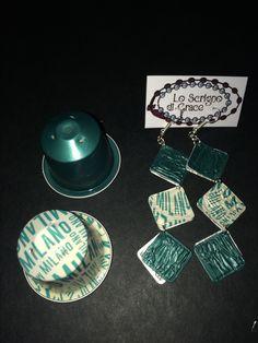 Orecchini capsule nespresso