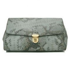 £121.00 outle prada bl0263 snake veins leather clutch bags - gray website