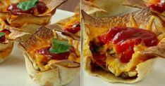 Mini tortille w formie babeczek - Pyszności Cheddar, Tacos, Curry, Mexican, Ethnic Recipes, Curries, Cheddar Cheese, Mexicans