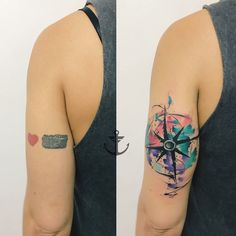 Cover Up Tattoos, Foot Tattoos, Girl Tattoos, Gaia Tattoo, Tatuaje Cover Up, Dragon Sleeve Tattoos, Watercolor Tattoo, Piercings, Ideas