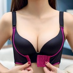 8ccbdf083162a Hot Seamless Wireless Push Up Front Closure Gather Adjustable Bra - NewChic  Mobile version.