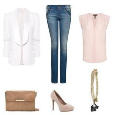 My version would have pointed flats, ankle-length dark jeans, and a silver clutch (perhaps snakeskin or shimmery texture). The chain would be longer, more delicate and silver. Mango Looks, New Mode, Cool Outfits, Fashion Outfits, Fashion Ideas, Fashion Inspiration, Cool Style, My Style, Mango Fashion