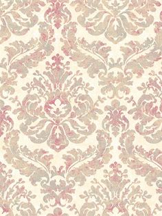 Gorgeous multicolored Damask wallpaper from the book Gentle Manor from AmericanBlinds.com #wallcovering