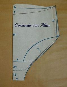 Cosiendo con Alita: MOLDE BASE DE LOS CALZONES.