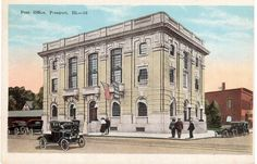 Postcrossing US-3338250 - Vintage postcard with picture of the post office in Freeport, Illinois.  Freeport is not far from where I grew up.  Sent to Postcrosser in Germany.