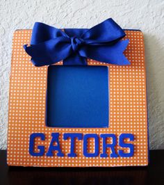 Go Gators! Orange & Blue dots frame. #University of Florida - $14