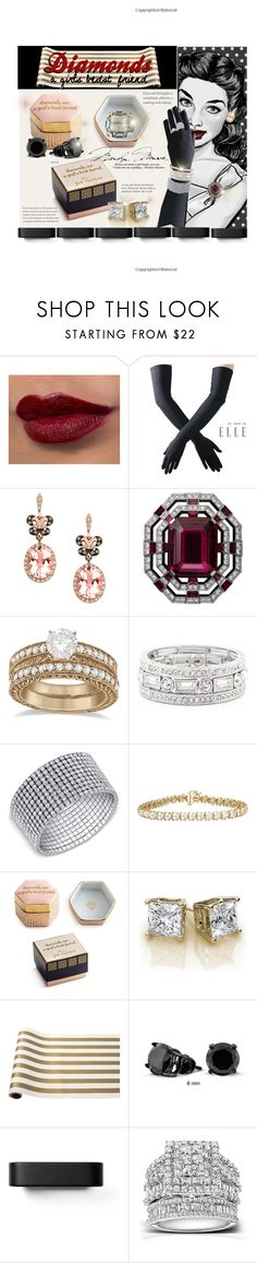 """Diamonds a girls bedst friend"" by keydon2 ❤ liked on Polyvore featuring Black, Effy Jewelry, Allurez, Sole Society, Rosanna, Hester & Cook, Bling Jewelry, Menu, Kobelli and Schreiner"