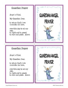 Guardian Angel Prayer Learning Card Set   Thatresourcesite – Educational and Religious Education Resources for Teachers and Homeschoolers.