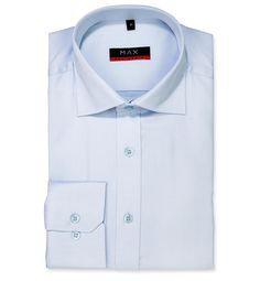 Modern Fit polopriliehavá košeľa Bledomodrá jednofarebná 100% bavlna Tvil (keper)