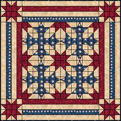 Our Country Quilt Flag Quilt, Patriotic Quilts, Star Quilt Blocks, Star Quilts, Scrappy Quilts, Quilting Tutorials, Quilting Projects, Quilting Designs, Quilting Tips