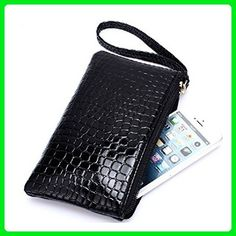 Tinksky Portable Lady Wallet Purse Phone Handbag Pouch (Black) - Wallets (*Amazon Partner-Link)