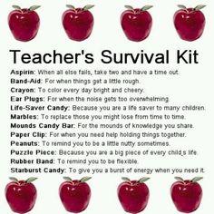 Teacher Survival Kit on Pinterest | Teacher Survival Kits, Survival ...
