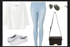 Cute white keds outfit