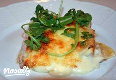 Töltött cannelloni darált hússal | Nosalty Pasta Al Dente, Mashed Potatoes, Chicken, Breakfast, Ethnic Recipes, Food, Drink, Diet, Lasagna