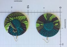 Ohrringe Stoff - Ohrhänger - Handmade  aus Afrika