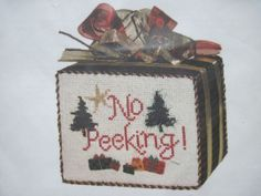 Silver Needle No Peeking Christmas Secret Night July 2002 Cross Stitch Kit #SilverNeedle #SecretNeedleNight