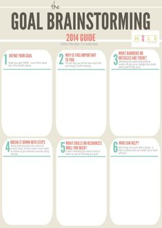 Use this worksheet to help you brainstorm and plan out your goals for 2014 Find out more in our kickass in 2014 eBook Goals Worksheet, Goal Setting Worksheet, Goal Setting Activities, Goal Setting Template, Smart Methode, Lettering, Relapse Prevention, Motivational Interviewing, Goal Planning