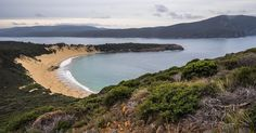 It's a small trek in but worth it in every way. Dunes and a Crescent Beach which carries that name. Mt Brown overlooks this little secret on the Tasman Peninsula. On a fine blue sky day that water glistens Image credit: Cameron Semple