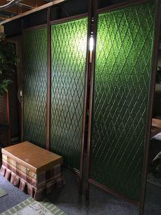 472a283c2722 Mid Century 1960s THREE (3) Lucite Panels Large Teak Wall Unit