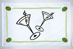 """Cocktail Nylon Boat Flag TaylorMade 12 x 8/"""" Boat Drink Party Flag"""