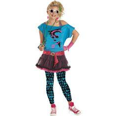 """Valley Girl Costume for Teen Girls - Halloween City. """"I'm from the valley! 80s Girl Costume, Teen Girl Costumes, Halloween Costumes For Teens, Cute Costumes, Costume Ideas, Halloween Party, Halloween Dance, Costumes Kids, Spirit Halloween"""