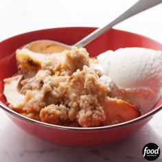 Ina's Old-Fashioned Apple Crisp pairs great with homemade vanilla ice cream!