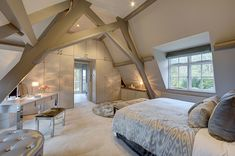 Loft Conversion Bedroom Ideas , Have fun with the colors, but remember that it's a bedroom and is probably open to the remaining portion of the house. In any case, attic bedroom may . Attic Master Bedroom, Attic Bedroom Designs, Master Bedroom Design, Bedroom Loft, Attic Bathroom, Extra Bedroom, Attic Design, Artistic Bedroom, Loft Design