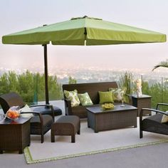 From dawn to dusk, the Square Side-mount Umbrella blocks the sun's glare as it moves across the sky, virtually shading you from all angles of the sun. This resort-quality, cantilever umbrella easily tilts and pivots 360 around the base, requiring no maintenance. 10' sq. cantilever design provides 100 sq. ft. of shade at virtually any angleLightweight yet sturdy powdercoat-finished, 2-3/4 dia. aluminum poleOne-handed crank operation glides the umbrella up and into a horizontal or angled…