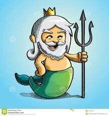 """Poseidon (Oudgrieks: Ποσειδῶν, Poseidỗn; Dorisch: Ποτειδαν, Poteidan, Ποσειδάων, Poseidáôn[1]) is in de Griekse mythologie de god die heerst over de zee, de wateren en hun goden. Maar hij was ook een god van de paarden en - als """"Aard-Schudder"""" - van aardbevingen. Het Romeinse equivalent is Neptunus. Hij wordt vaak afgebeeld met een drietand."""